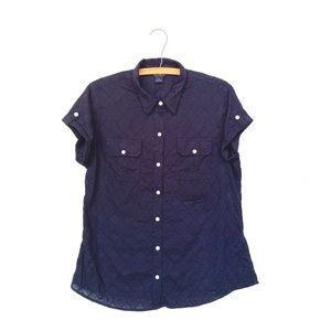 Lucky Brand Embroidered Button Down Top